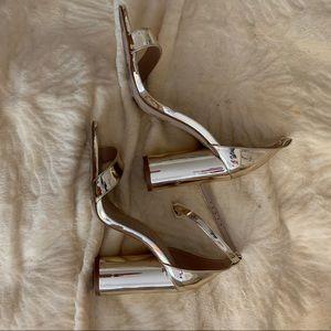Gold Aldo heels 6 1/2